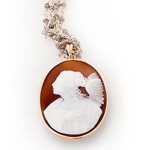 cameo pendant recycled by Scarab Jewellery