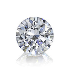 Diamond in classic round brilliant cut