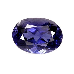 iolite gemstone in vivid blue