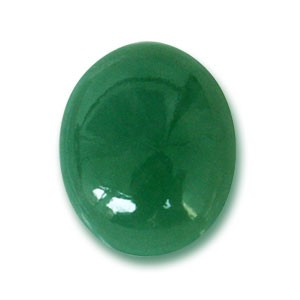 polished jade cabouchon in lovely green