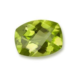 Perido gemstone cut and polished