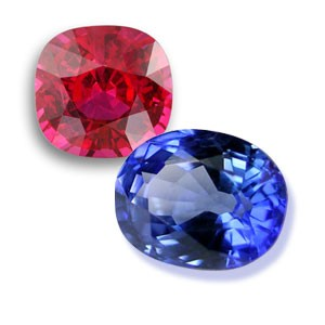 Ruby and Blue Sapphire are both part of the corundum group