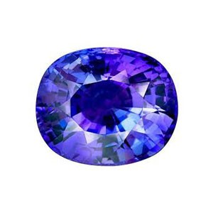 tanzanite in deep vivid blue