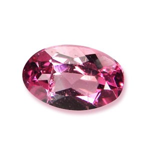 Pink tourmaline oval cut