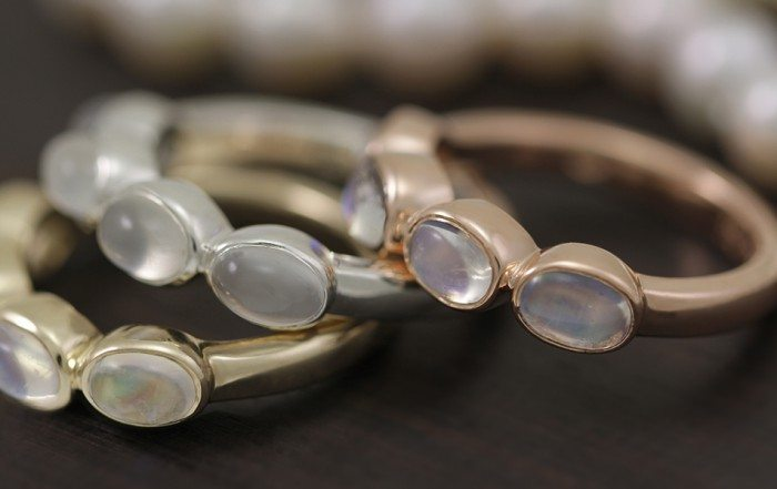 moonstone jewellery by Scarab Jewellery Studio
