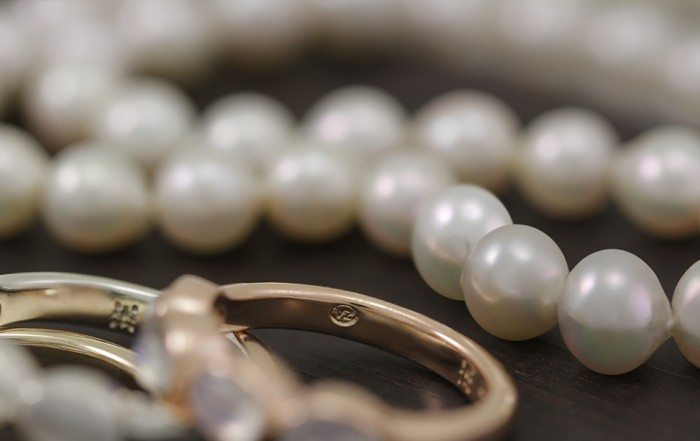 Moonstone and Pearls at Scarab Jewellery Studio