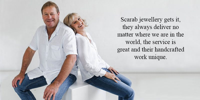 Buying Jewellery Abroad - Mark and Carey Neill love how easy it is to buy Scarab jewellery from anywhere in the world
