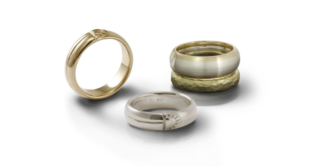 Mens Rings in Silver and Gold by Scarab Jewellery Studio